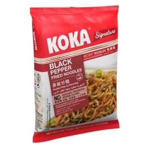 Koka Black pepper fried noodles (NO MSG) - 黑椒炒面