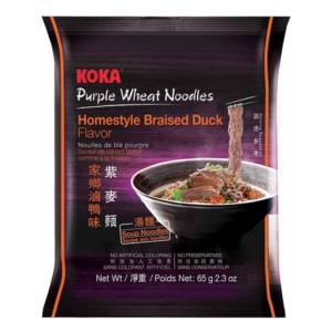 Koka Purple wheat noodle homestyle braised duck flavor (可口紫麥即食麵 65g)