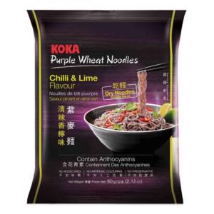 Koka Purple wheat noodle chilli & lime flavor (意式清辣香柠紫麦面 60克)