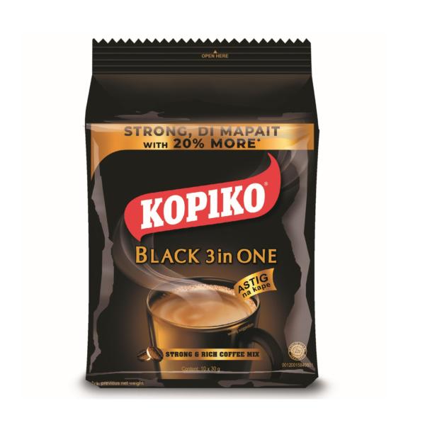 Kopiko Instant zwarte koffie 3 in 1