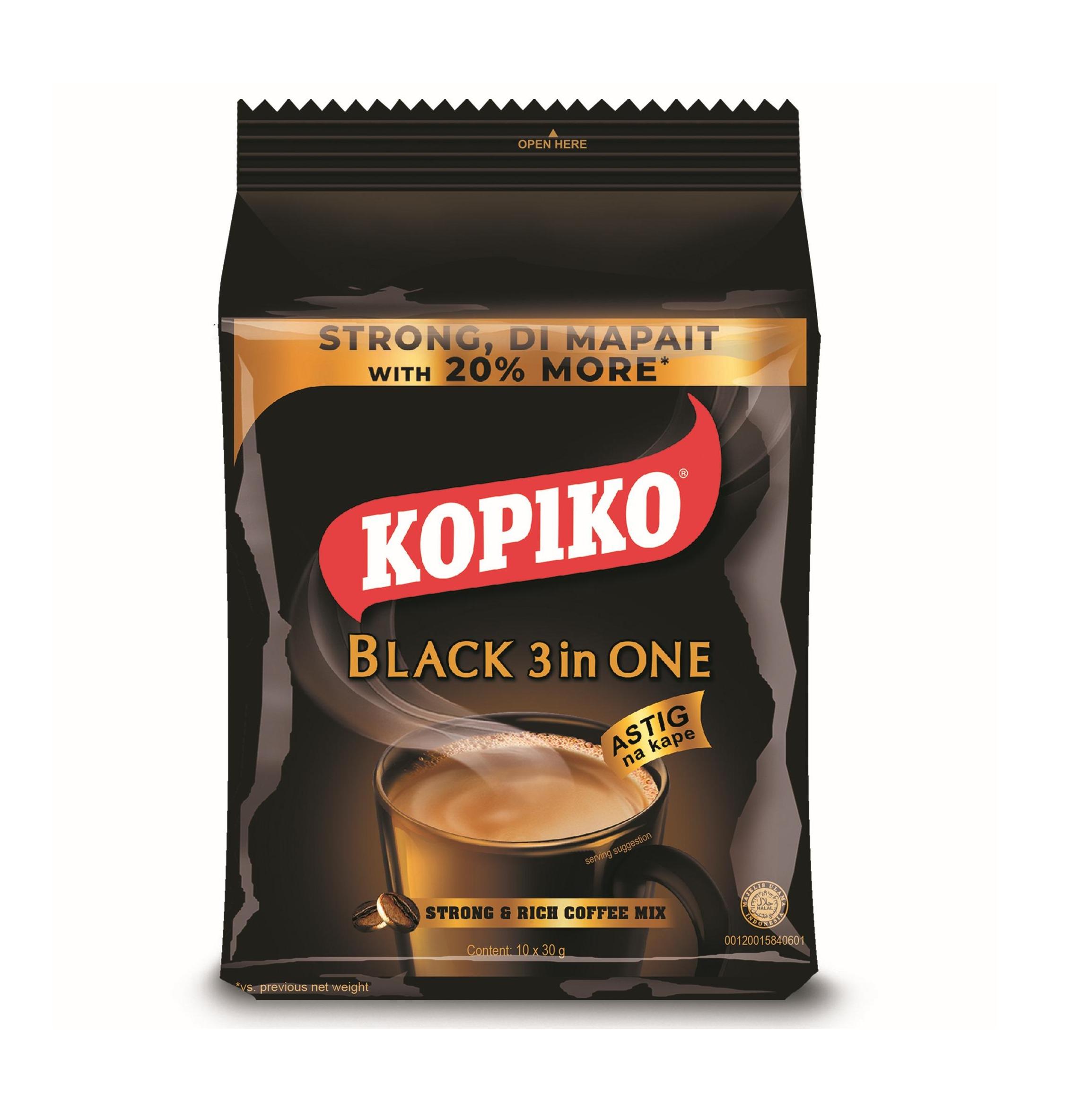 Instant zwarte koffie 3 in 1