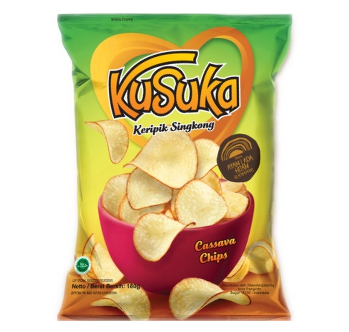 Kusuka cassava chips black pepper
