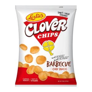 Leslies Clover chips BBQ flavor