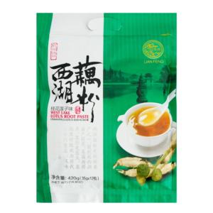 Lian feng West lake lotus root paste osmanthus lotus seed flavor (莲峰 西湖藕粉 桂花莲子味)