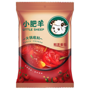 Little Sheep Hot pot soep basis tomaten smaak (小肥羊 火锅底料 鲜美番茄)