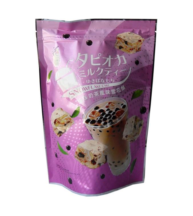Graansnack met bubble thee smaak (雪花餅 珍珠奶茶味)