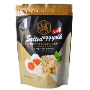 Love&Love Graansnack met gezouten eieren smaak (雪花餅 鹹蛋黃味)