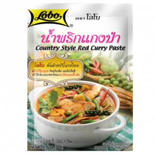 """Lobo """"Country style"""" rode currypasta"""