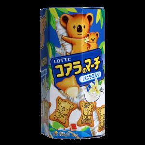 Lotte Koala cookies vanilla milk flavour