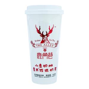 Lu Jiao Xiang 鹿角巷  小鹿好桃珍珠奶茶 Pearl milk tea peach flavor