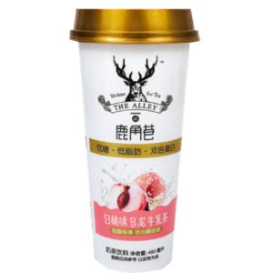 Lu Jiao Xiang 鹿角巷  白桃乌龙牛乳茶 melkthee perzik oolong drank