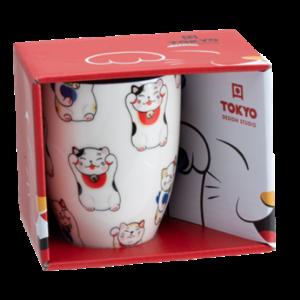 Tokyo Design Studio Kawaii lucky cats mug