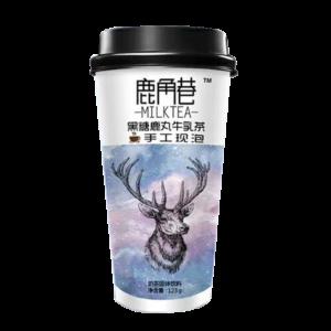 Lu Jiao Xiang 鹿角巷 黑糖鹿丸牛乳茶 melkthee bruine suiker