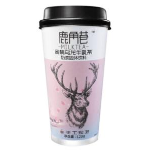 Lu Jiao Xiang 鹿角巷 蜜桃乌龙牛乳茶 oolong melkthee perzik smaak