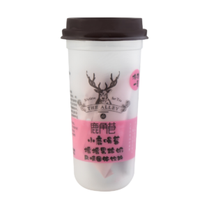 Lu Jiao Xiang 鹿角巷 摇摇果粒奶 草莓味 melkthee aardbei smaak