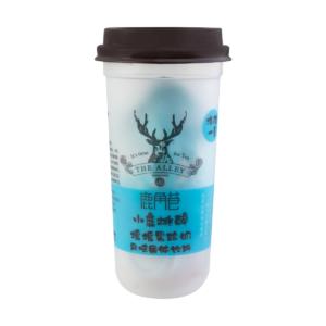 Lu Jiao Xiang 鹿角巷 摇摇果粒奶 黄桃味 melkthee perzik smaak