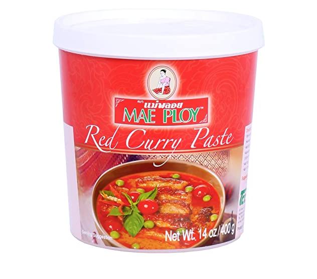 Rode currypasta
