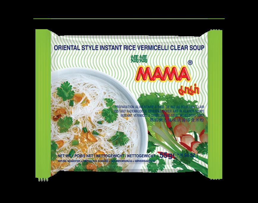 Vermicelli in heldere soep Orientaalse stijl (媽媽米粉)