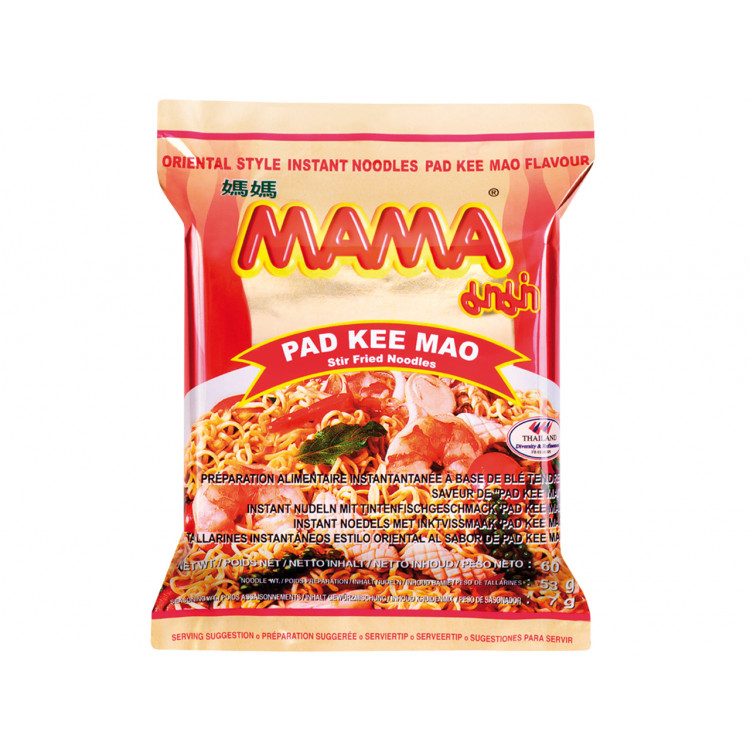 Noedels inktvis smaak pad kee mao (媽媽即食麵)