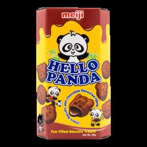 Meiji Hello panda cookies double chocolate flavour
