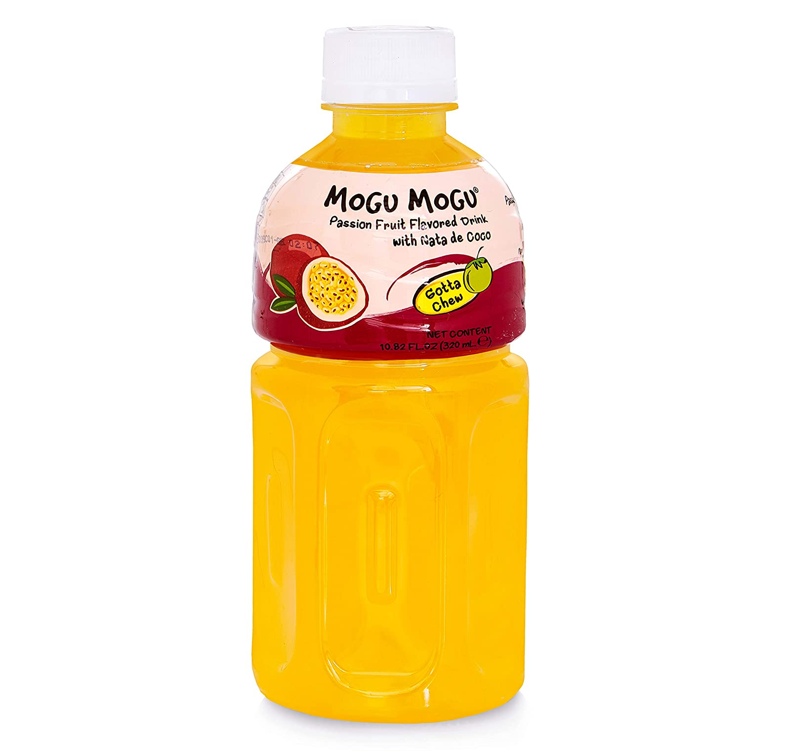 Passion fruit drink with nata de coco