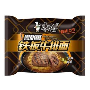 Mr. Kon Black pepper steak noodle (康师傅 黑胡椒铁板牛排面)