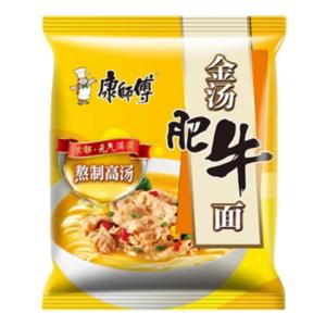 Mr. Kon Noodle broth beef flavor (康师傅 金汤肥牛面)
