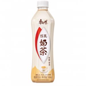 Mr. Kon Thee met gecondenseerde melk (康师傅奶茶饮料 炼乳味)