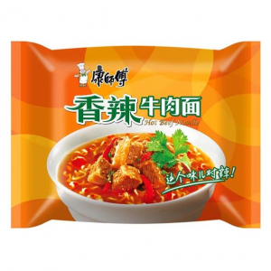 Mr. Kon Noedels pikant rundvlees aroma (康师傅 香辣牛肉面)