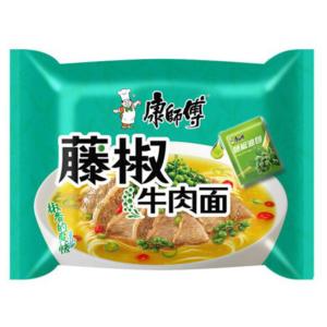 Mr. Kon Rattan pepper beef noodle (康师傅  藤椒牛排面)