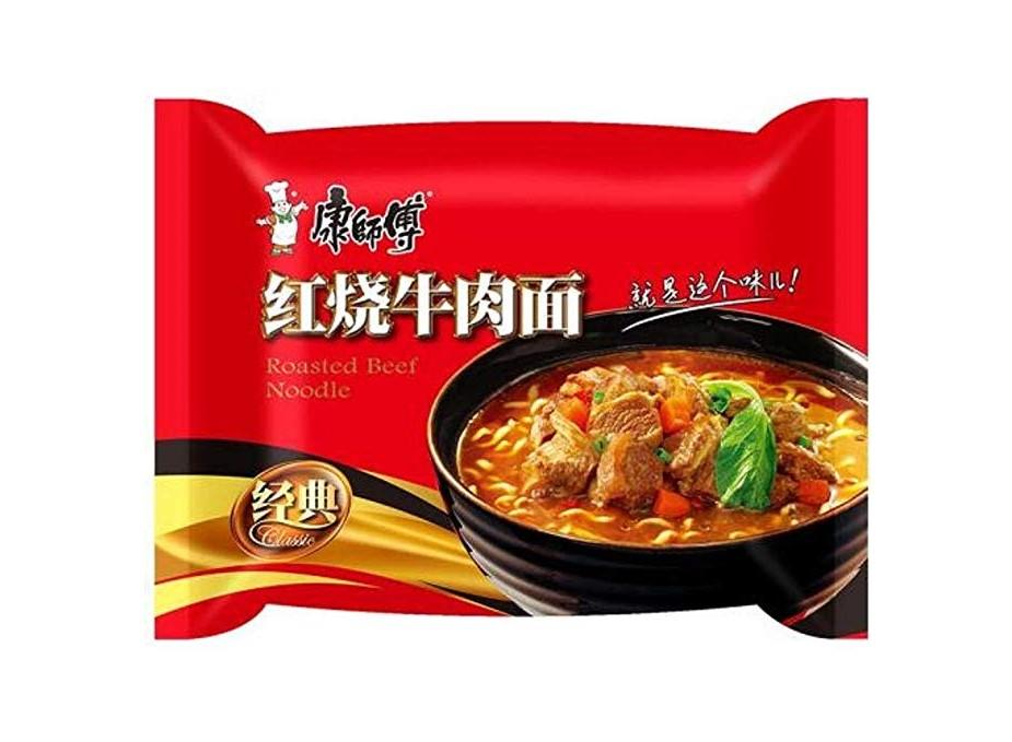 Noedels geroosterd rundvlees aroma (康师傅 红烧牛肉面)