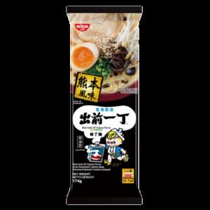 Nissin Noodle black garlic oil tonkatsu flavour serving for two