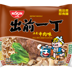 Nissin Noedels vijf kruiden rundvlees smaak (出前一丁牛肉麵)