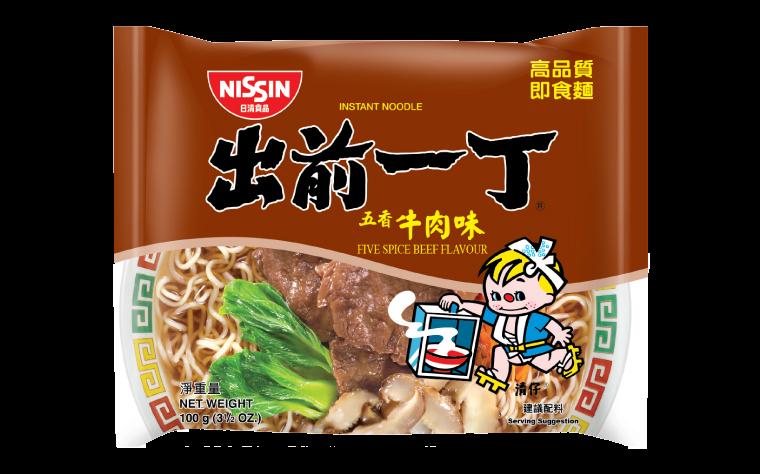 Noodles five spice beef flavour (出前一丁牛肉麵)