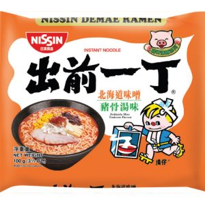 Nissin  Noedels hokkaido miso tonkotsu smaak (出前一丁北海道麵鼓湯麵)