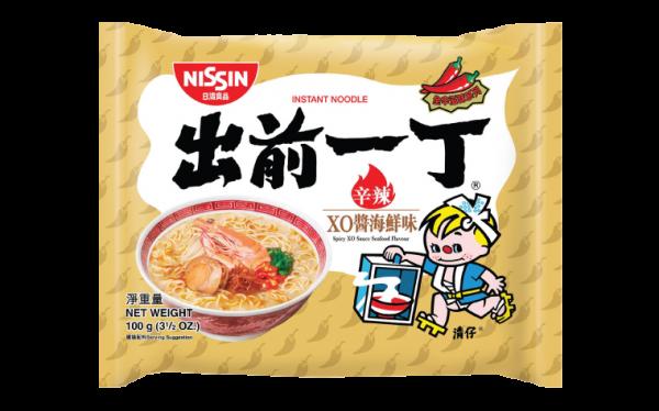 Nissin Noedels xo saus zeevruchtensmaak (出前一丁XO醬海鮮麵)