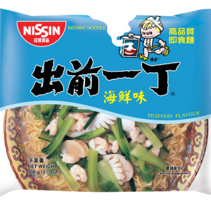 Nissin Noodles seafood flavour (出前一丁鲜蝦麵)