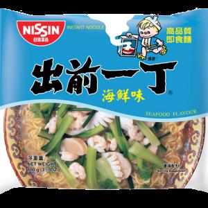 Nissin Noedels zeevruchten smaak (出前一丁鲜蝦麵)
