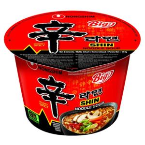 Nongshim Big bowl noodle shin ramyun spicy flavour
