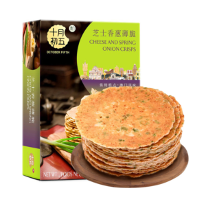 October Fifth Cheese and spring onion crisps ( 十月初五  芝士香葱薄脆饼)