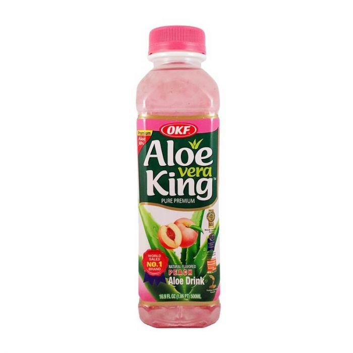 Aloe vera drink with peach flavour