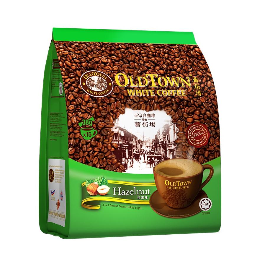 Instant witte koffie hazelnoot smaak