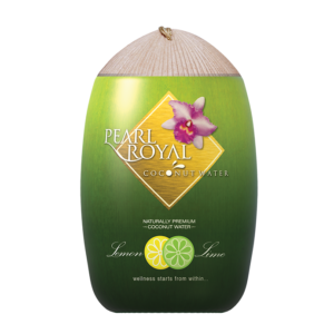 Pearl Royal Coconut water with lemon-lime flavor