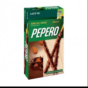 Lotte Pepero biscuit chocolade met amandel