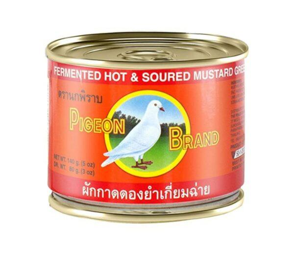 Pigeon Gefermenteerde, pittige en zure mosterdkool in sojasaus