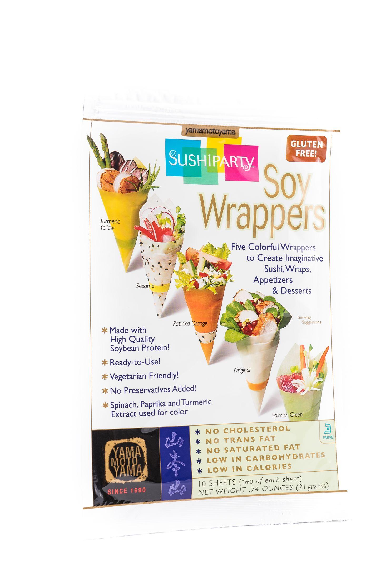Assortiment van wrappers voor sushi