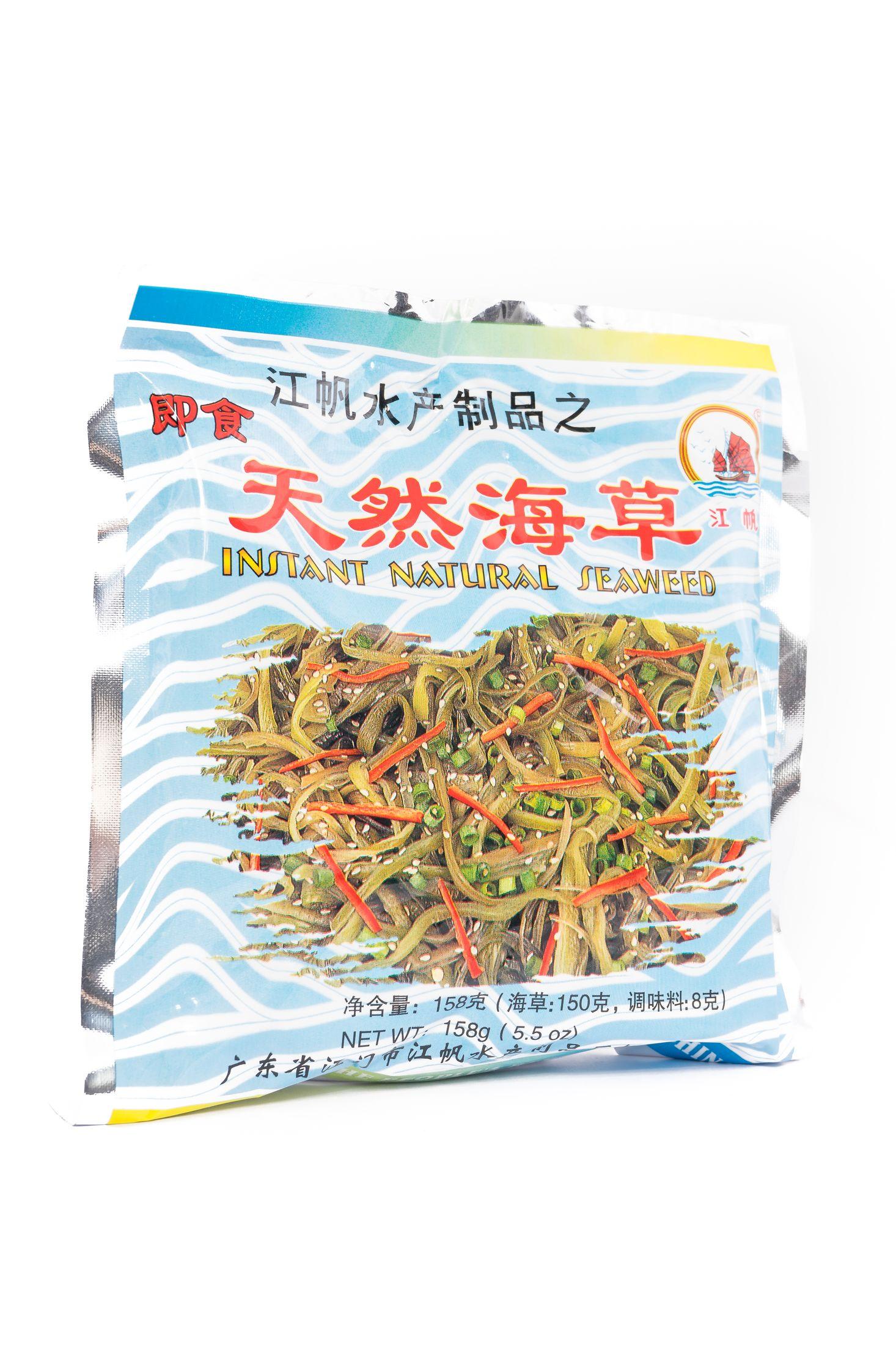Natuurlijke zeewier salade