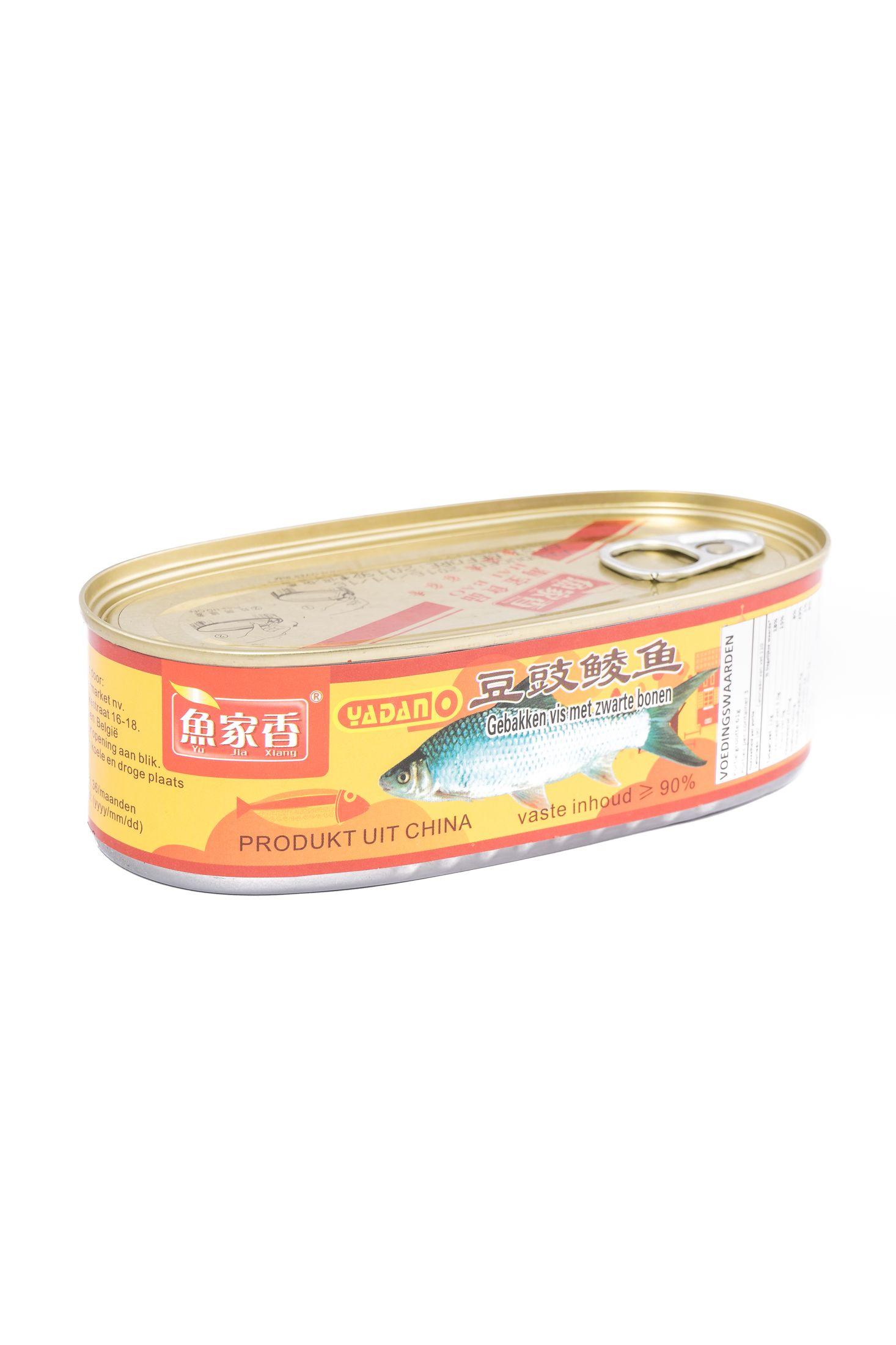 Gebakken vis met zwarte bonen (魚家香豆豉鲮鱼)