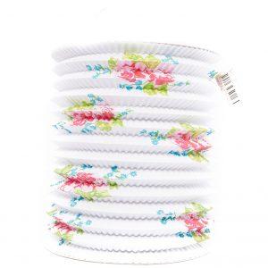 Lantaarn wit papier met bloemen decoratie