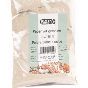 Yadano Peper wit gemalen